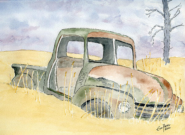 Old Rusty Truck Print by Eva Ason