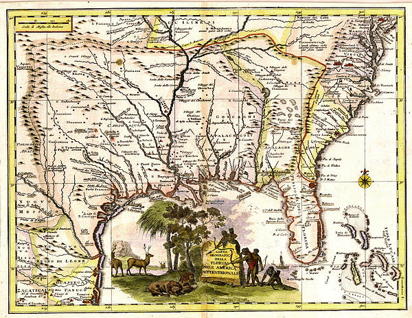 Old  Se United States Map Print by Unknown