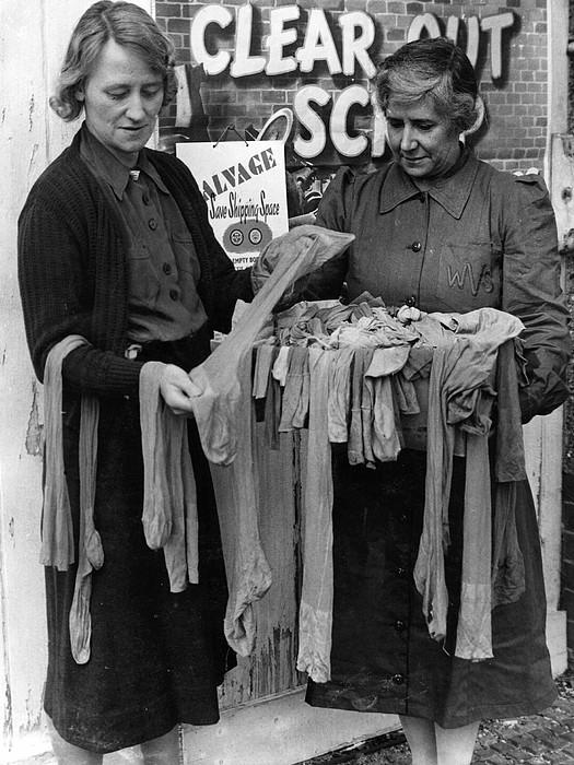 Old Silk Stockings Print by Fox Photos
