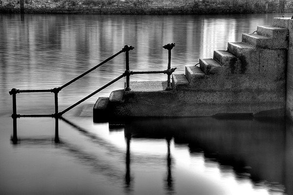 Old Stairway Print by Ander Aguirre photography