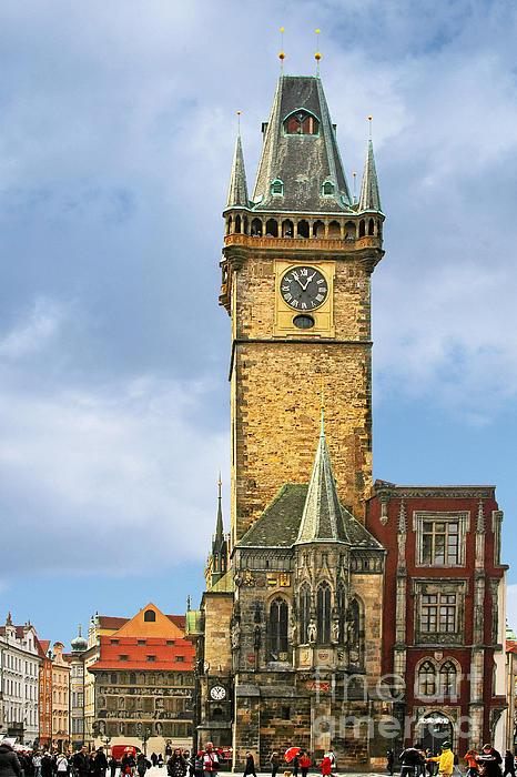 Old Town Hall Prague Cz Print by Christine Till