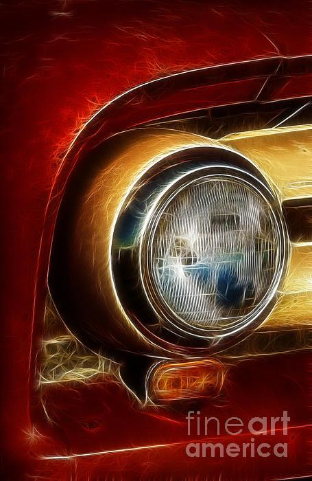 Old Truck Headlight Print by Darleen Stry