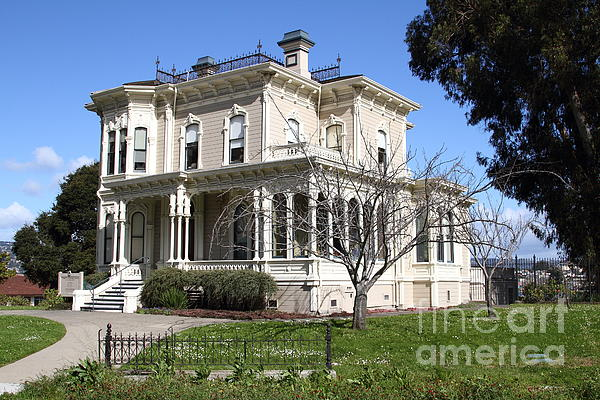 Old Victorian Camron-stanford House . Oakland California . 7d13445 Print by Wingsdomain Art and Photography