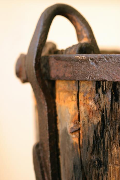 Old Wooden Barrel At The Ore Mine Sweden Print by Dagmar Ceki