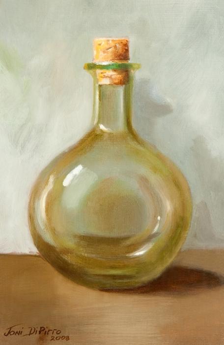 Olive Oil Bottle Still Life  Print by Joni Dipirro