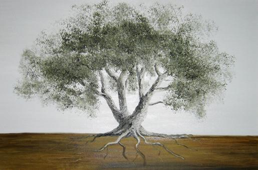 Anna Witkowska - olive tree - Greek life tree