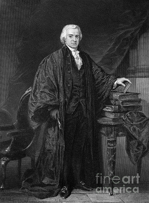 Olvier Ellsworth (1745-1807). Chief Justice Of The United States Supreme Court, 1796-1799. Steel Engraving, 1863 Print by Granger