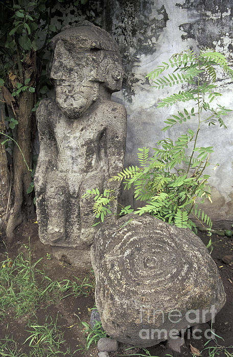 Ometepe Sculptures Nicaragua Print by John  Mitchell