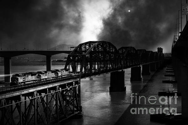 Once Upon A Time In The Story Book Town Of Benicia California - 5d18849 - Black And White Print by Wingsdomain Art and Photography