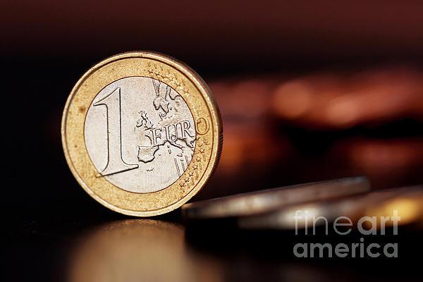 One Euro Coin Print by Soultana Koleska