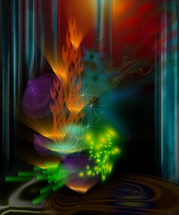 One Flame Print by Aleksandar Zisovski