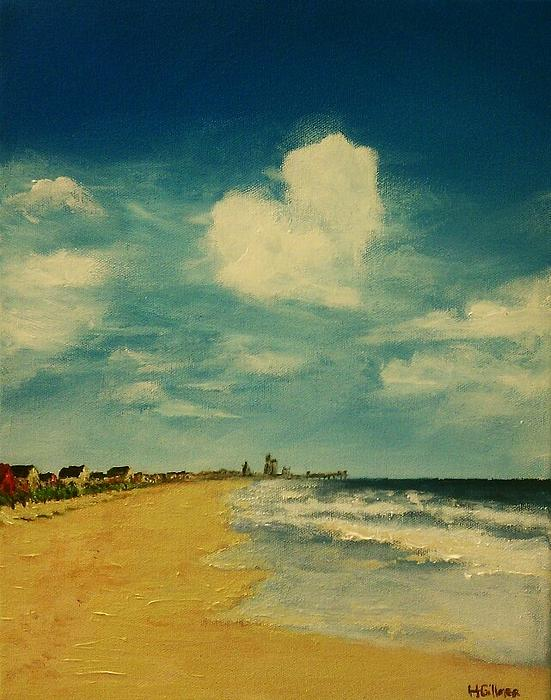 One Heart Over The Beach Print by Heather  Gillmer