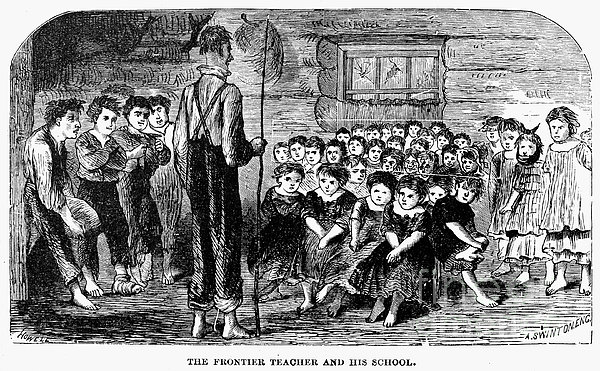 One-room Schoolhouse, 1883 Print by Granger