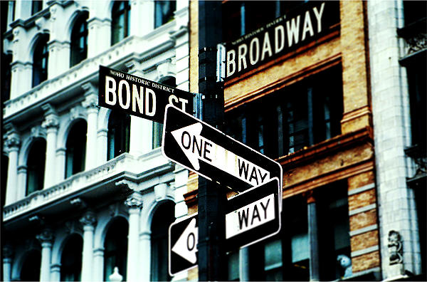 One Way Junction Print by Jenn Bodro