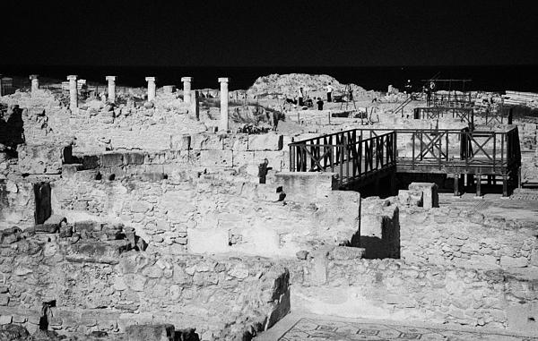 Ongoing Archeological Dig At The House Of Dionysos Roman Villa At Paphos Archeological Park Cyprus Print by Joe Fox