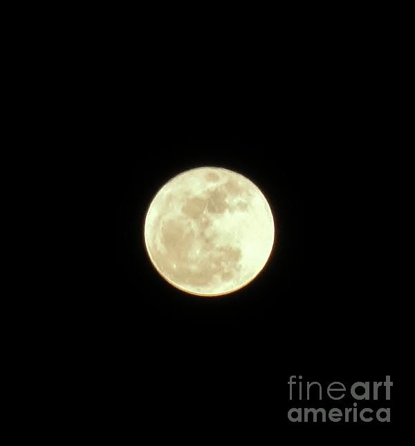 Only The Moon Print by Elizabeth Hernandez