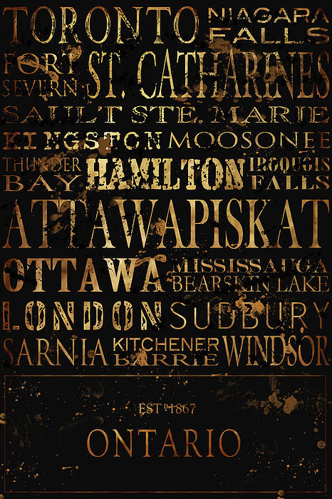 Ontario Typography Print by Tanya Harrison