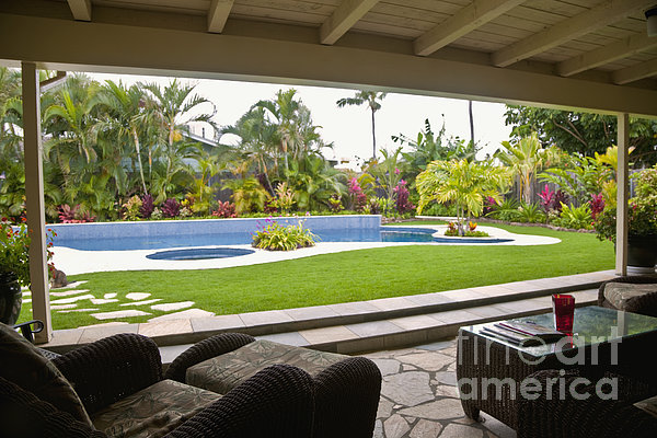 Open Air Luxury Patio Print by Inti St. Clair