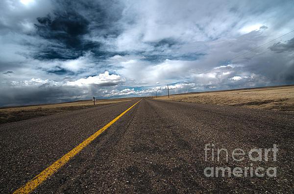 Open Highway Print by Arjuna Kodisinghe
