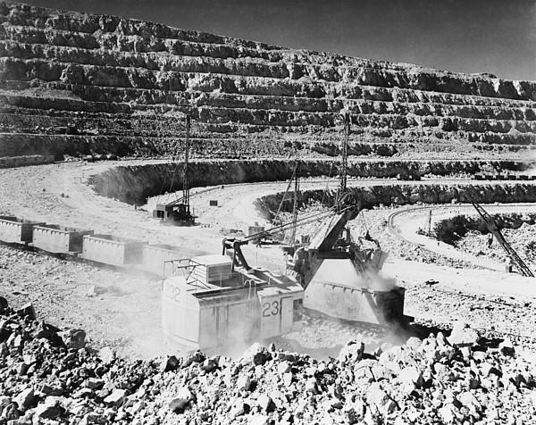 Open Pit Copper Mine At Chuquicamata By Everett