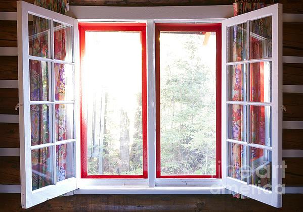 Open Window In Cottage Print by Elena Elisseeva