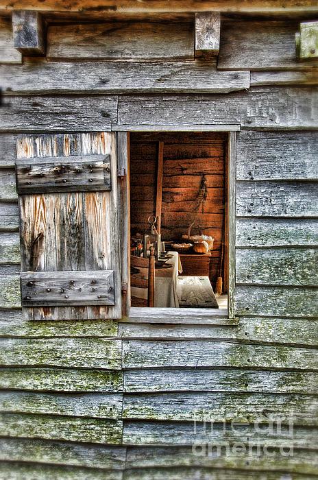Open Window In Pioneer Home Print by Jill Battaglia