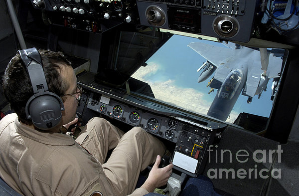 Operator Refuels An F-16 Fighting Print by Stocktrek Images