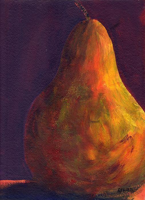 Orange Pear Print by Rosie Phillips