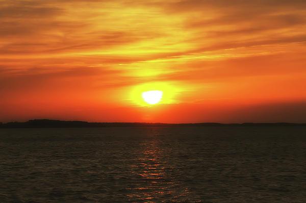 Orange Sky Sunrise Print by Bill Cannon
