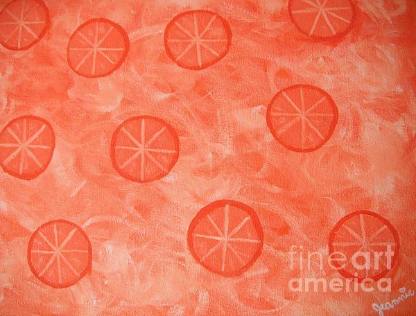 Orange Slices Print by Jeannie Atwater Jordan Allen