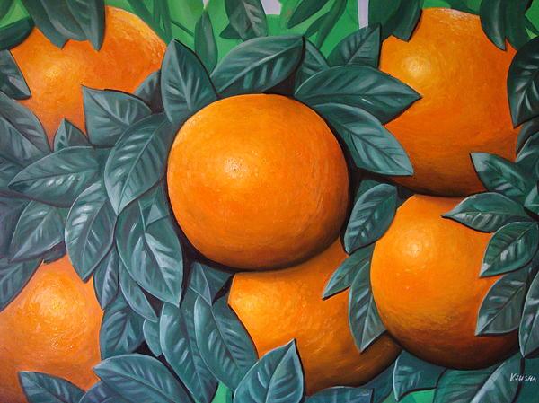 Oranges Print by Ksusha Scott