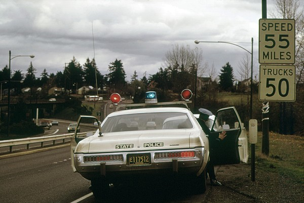Oregon State Police Stops A Driver Who Print by Everett