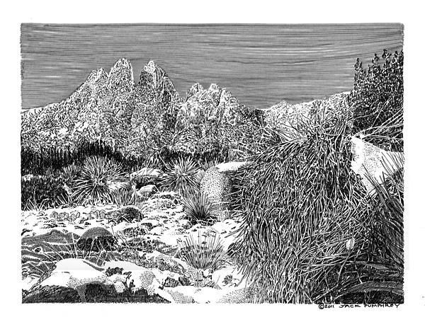 Organ Mountain Wintertime Print by Jack Pumphrey