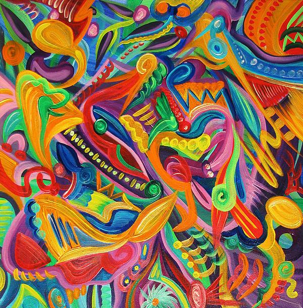 Organic Clown Print by Matt Crux