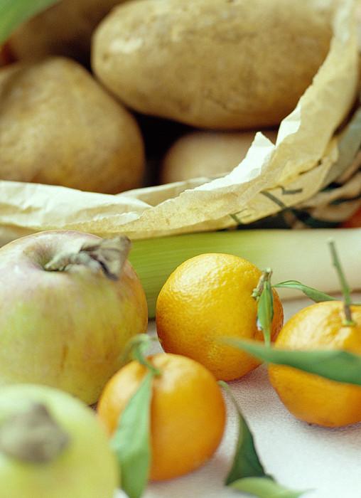 Organic Fruits And Vegetables Print by David Munns