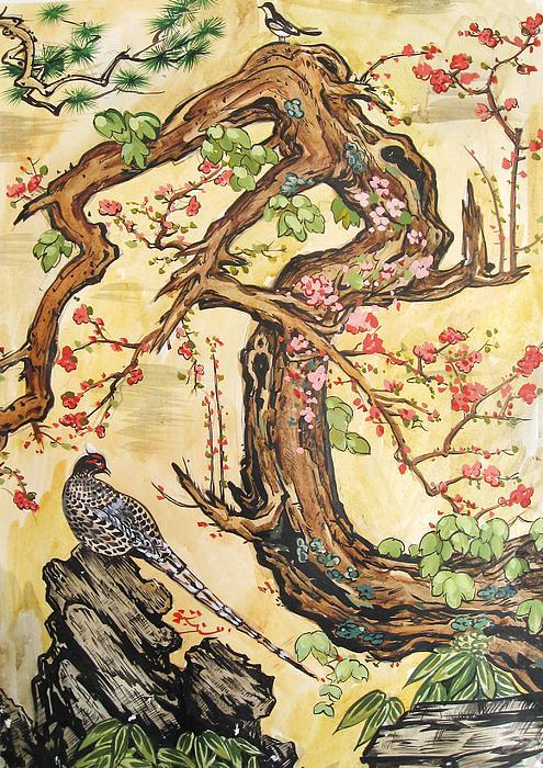 Oriental Landscape2 Print by Michail Noskov