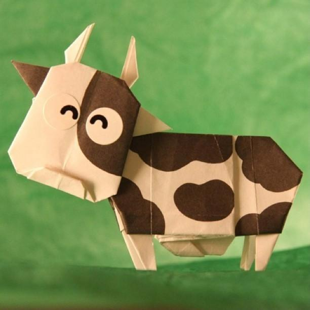 origami cow this is one of my by cindy ho