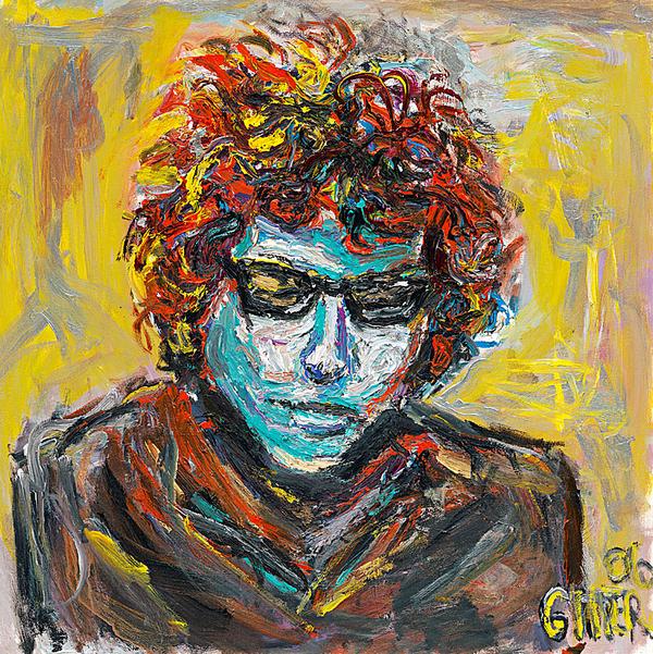 Original Bob Dylan Print by Patrick Ginter