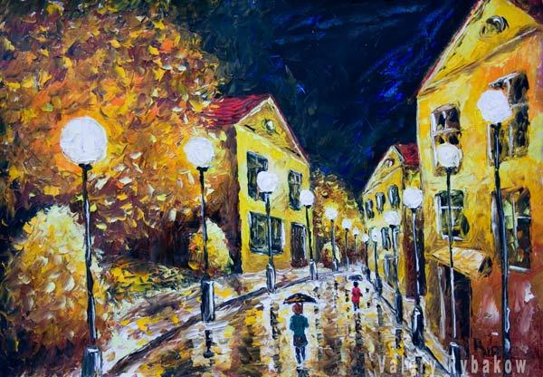 Original Oil Painting Night Street Palette Knife Impressionism ...: fineartamerica.com/featured/original-oil-painting-night-street...