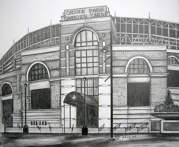 Oriole Park Camden Yards Print by Juliana Dube