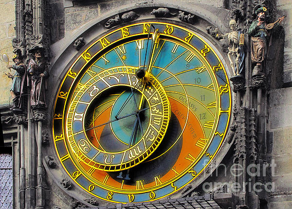 Orloj - Astronomical Clock - Prague Print by Christine Till