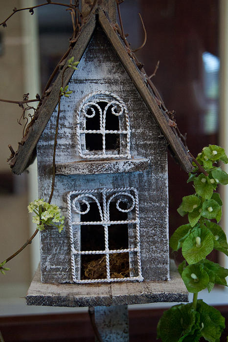 Ornamental Bird House Print by Douglas Barnett