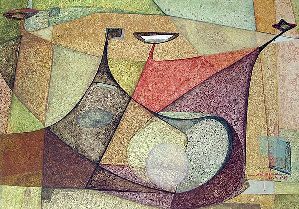 Os1960ar001ba Abstract Design 16.75x11.5 Print by Alfredo Da Silva