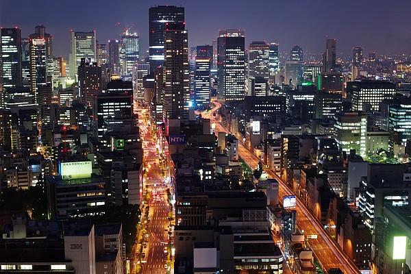 Osaka Night Scene Print by Photo by ball1515
