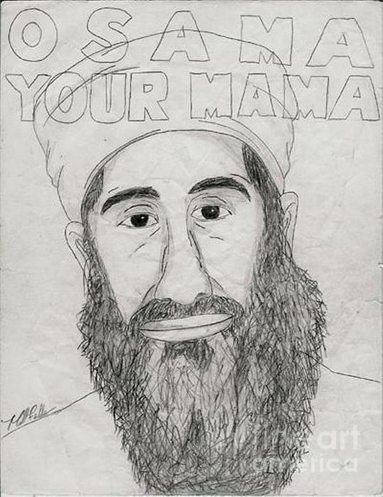 Osama Your Mama Print by Matthew Fields