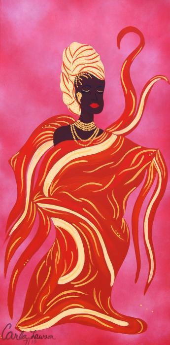 Oshun Print by Carla J Lawson