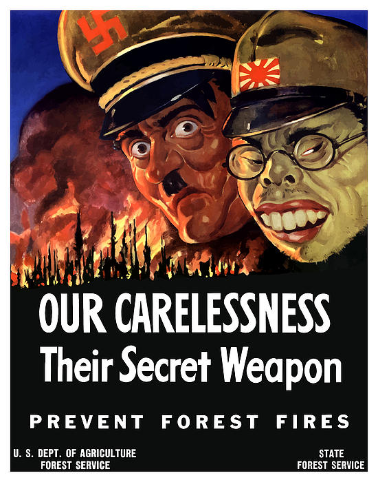 Our Carelessness Their Secret Weapon Print by War Is Hell Store