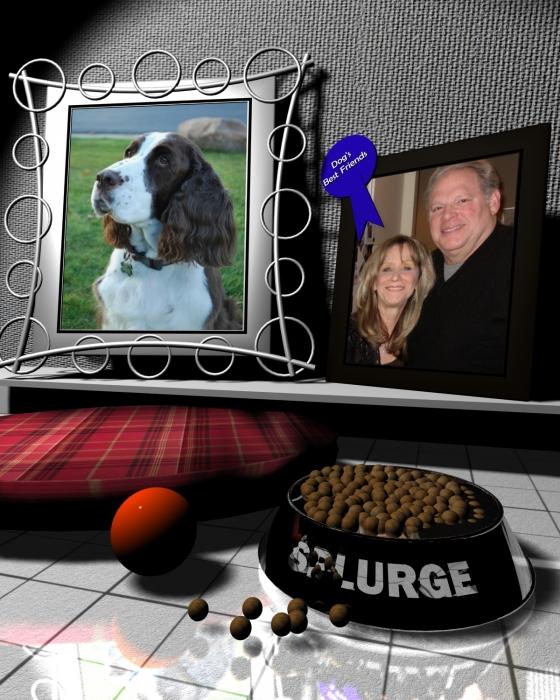 Our Dog Splurge Print by Stuart Stone