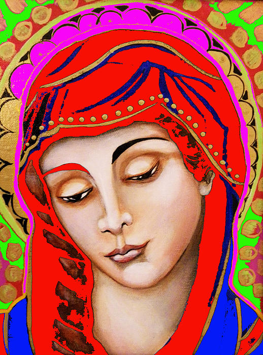 Our Lady Of Sorrows Print by Christina Miller