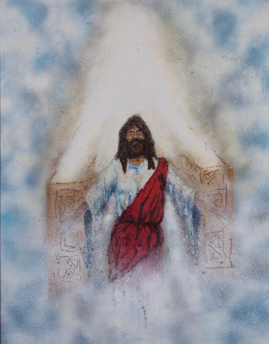 Out Of The Midst Of The Throne Came The Lamb Print by Thomas Lentz